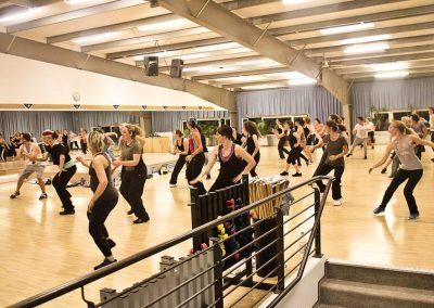 Aerobic- und Fitnesskurs im Fitnessstudio Seestern Fitnessclub Süd in Düsseldorf Benrath.